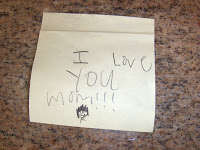 sweet note on post it note