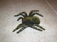fuzzy fake spider