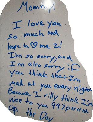 kids note on whiteboard
