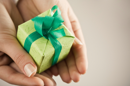 small green gift box