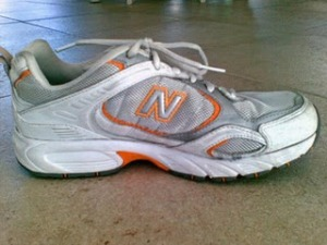 orange athletic shoe