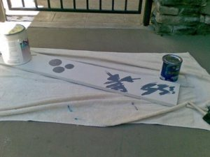paint project on porch
