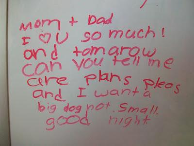 cute whiteboard note