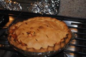 applie pie baked in oven