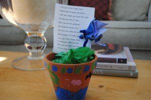 flower in a pot kindergarten
