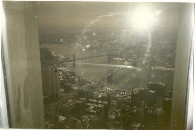 view from top of world trade center