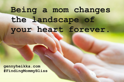 The landscape of a mom's heart…