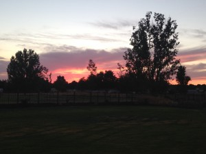The sunset in our backyard. It doesn't get dark until about 10:15 here, which is an adjustment for us, but the sunsets are gorgeous!