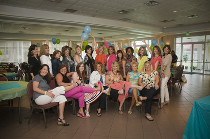 The Mom Initiative team, kicking our feet up!
