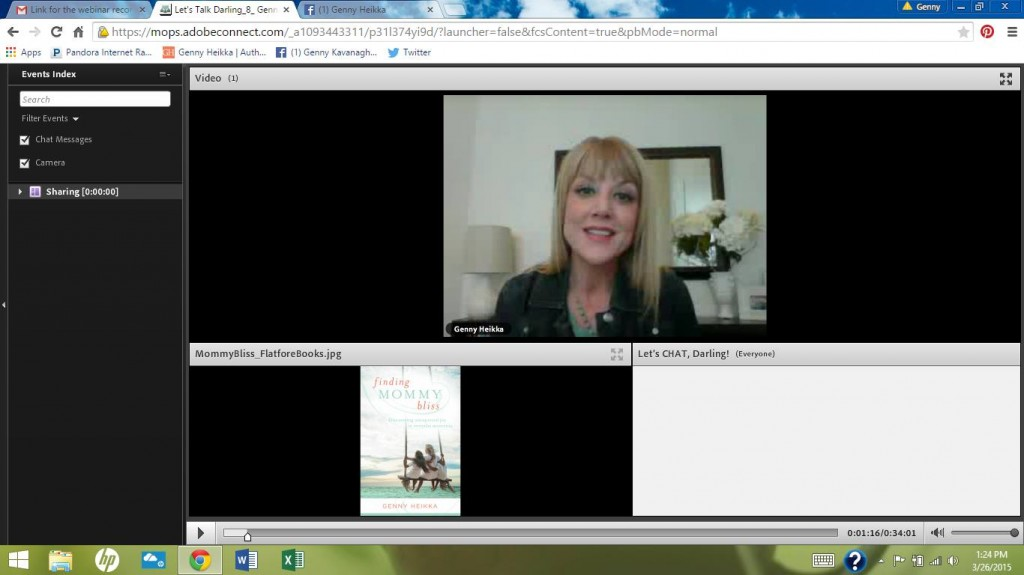 The video from my MOPS webinar (and a quick update)
