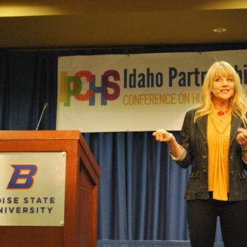 Genny Heikka keynote session at the Community Partnerships of Idaho Conference at Boise State University.